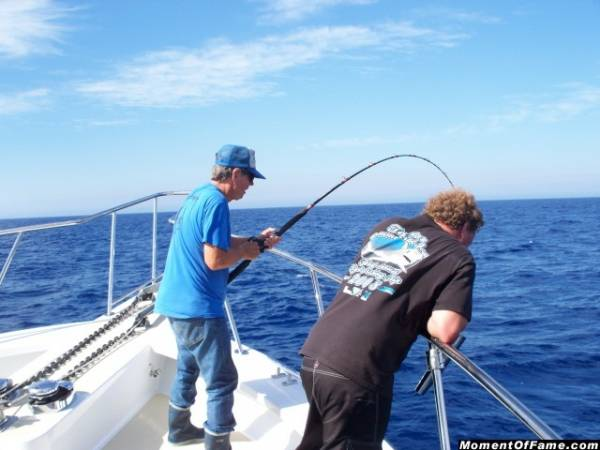 Ron fighting Bluefin Tuna