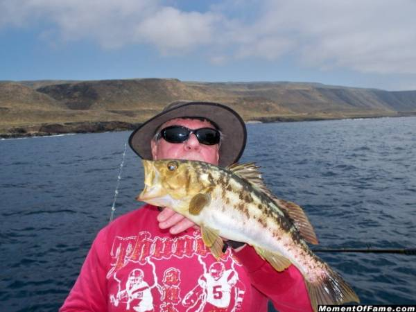 Cory with Calico Bass