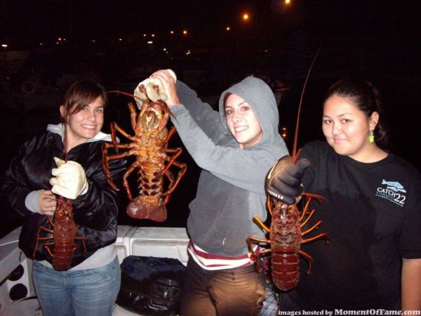 Girls Lobster Hoopnetting pictures