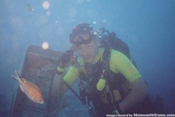 Underwater phone call.