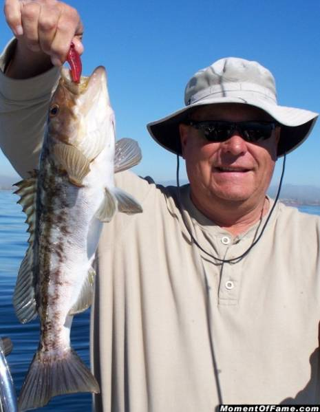 Lal with nice 3.5 lb. Calico Bass
