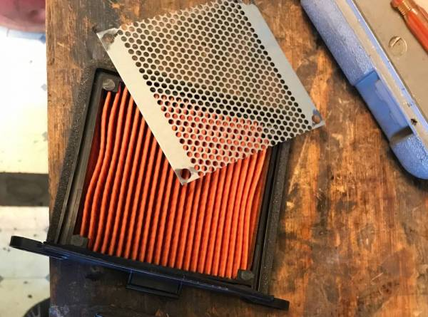 Triumph air filter mod