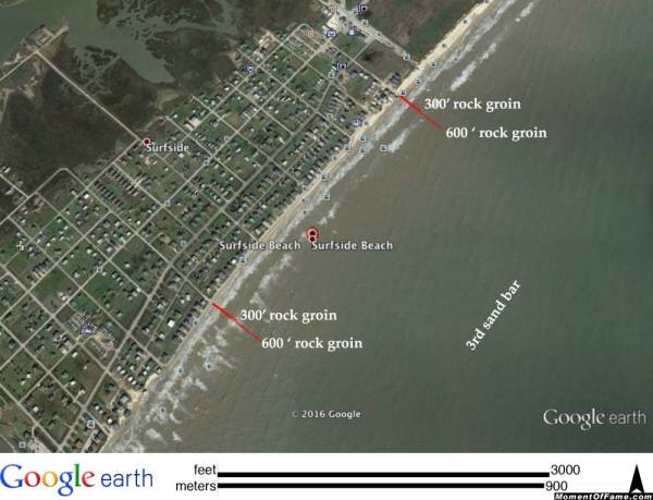 2016 Surfside Beach proposed rock groin project