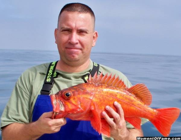 Mike with Vermillion Rockfish