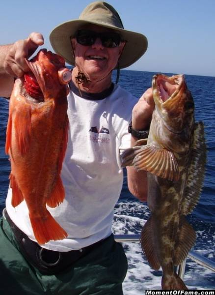 Jim with big Vermillion and Lingcod