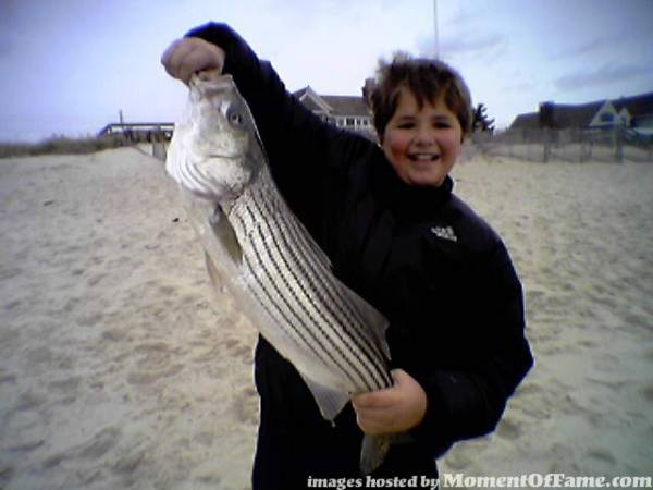 Tony's first striper