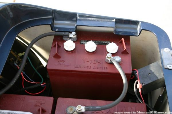 Drivers side battery